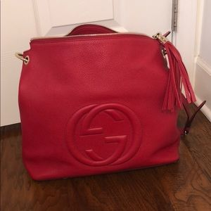 Authentic gucci red soho large bagPRICE DROP!
